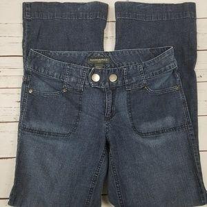 Banana Republic Size 10 Jeans Flare Leg Dark Wash